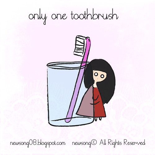 lonely toothbrush