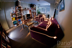 Living Room V2.0 (Deaerreio) Tags: madrid light espaa fish pez eye luz home painting de ojo living photo casa spain long exposure foto drawing room sony flash version 8 sala fisheye rey salon mm ocho 20 garcia fotografia alpha 8mm eight estar pintar exposicion larga dario 550 pintando erre pohotography aplha samyang strobist milimetres milimetros erreeigriega eigriega geaerreceia