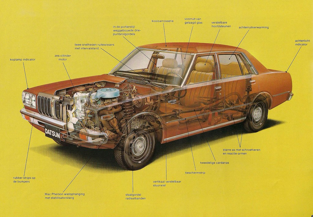 Cutaway (Hugo 90) Tags: Auto Car Ads Advertising Nissan Cedric Catalog  Brochure
