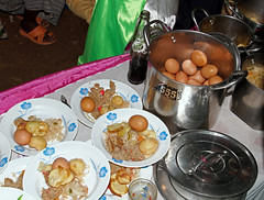 Uganda Wedding Feast (cowyeow) Tags: africa family wedding party food cakes cake guests feast dinner rural children dessert happy yummy village sweet african traditional marriage celebration reception sweets uganda celebrate africanfood exoticfood funnyfood africanwedding