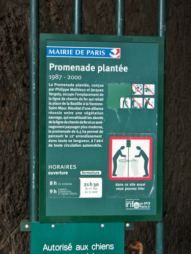la Promenade Plantee marker (by: Eldan Goldenberg, creative commons license)