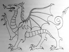 Dragon of wales (Marco Braun) Tags: white black dragon dragons blanche weiss bianco blanc schwarz draco drache drachen noire lindwurm drako drkon   drakn