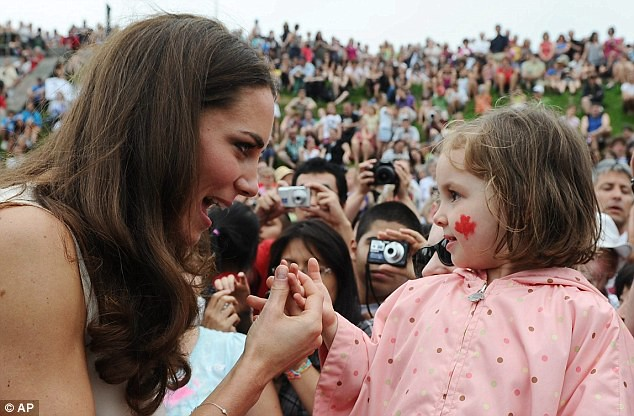 I'm a mummy in waiting, admits Kate as she gets broody over baby on Canada tour  1