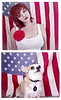 Tubbs for President. (indiphoto) Tags: blue red dog white chihuahua flower girl female america awesome americanflag patriotic fourthofjuly 4thofjuly redhair celebrate starsandstripes indi indiphoto