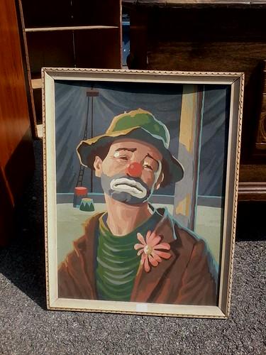 sad clown paint by number