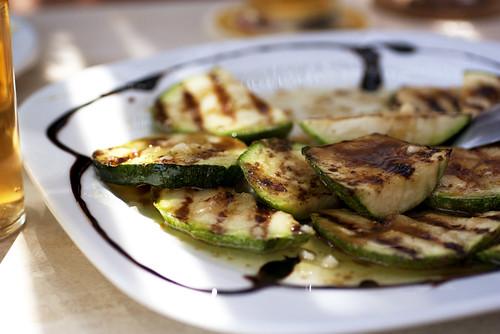 grilled zucchini @ irini's cafe