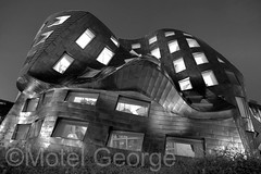 Curious Curvature (Motel George) Tags: downtown frankgehry hdr photomatix canon247028l blackandwhitephotograpy blackandwhitehdr frankgehryarchitecture lasvegashdr canon5dmarkii louruvobraininstitute symphonyparklasvegas