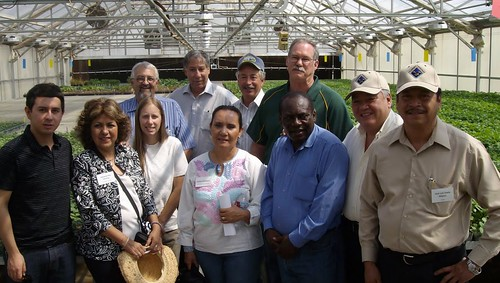 Under Secretary Ed Avalos at the Colorado State University potato research facility in Center, CO with Mexico producer buyers, CSU researchers and Commissioner John Salazar, Colorado Department of Agriculture.
