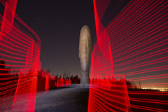 Electric Dreams......... (Digital Diary........) Tags: uk red sculpture lightpainting creative dream surreal led paintingwithlight sthelens merseyside juameplensa