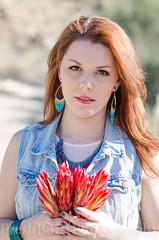 Caitlyn (FreshBurstPhotography) Tags: california pink red woman flower girl fashion pretty dress desert teal trendy denim