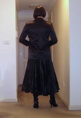 Reinventing A Governess (7) (Furre Ausse) Tags: black leather belt boots skirt blouse satin mistress blazer domme domina governess gouvernante