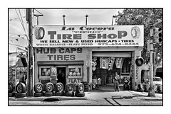 "La Cocora ""Pepino"" Tire Shop (2), Newark, New Jersey (GAPHIKER) Tags: newjersey tires flats newark rims hubcaps tireshop pepino usedtires rt21 lacocora"