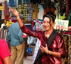 Paharganj crossdresser (bokage) Tags: street india market delhi crossdresser paharganj bokage