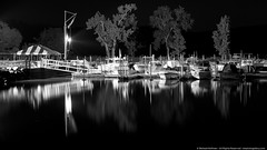 Docked on the Hudson (mhoffman1) Tags: longexposure blackandwhite newyork reflection night marina river boats evening harbor unitedstates hudson hudsonvalley boatslip coldsprings a7r silverefexpro coldspringboatclub