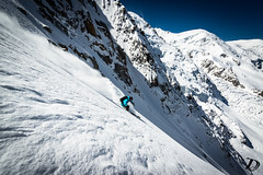 Sam Favret - Sunny Cosmiques  Damien Deschamps (Damien DESCHAMPS) Tags: sun ski mountains speed skiing powder glacier pro couloir steep chamonixmontblanc nikond800 nikkorafs1424f28 samfavret damiendeschamps
