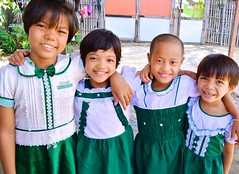 Myanmar: Rice farm profits continue to enable orphans education in new school year (Peace Gospel) Tags: school friends white green children happy education smiles myanmar uniforms