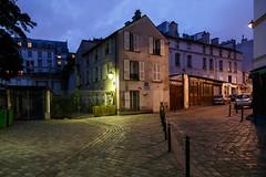 place des Abbesses (grapfapan) Tags: paris france architecture night place magic montmartre cobblestone pavée