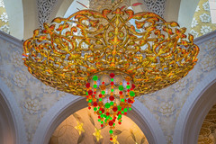 UAE - Inside Sheikh Zayed Mosque (Thomas G. from U.) Tags: asia asien uae mosque chandelier abudhabi unitedarabemirates svarovski placeofworship arabianpeninsula  sheikhzayedmosque   fatherofdeer
