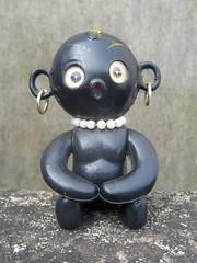 Dakko-Chan (The Moog Image Dump) Tags: black japan vintage toy japanese weird native african vinyl kitsch blow jewellery odd rings figure ear mold lenticular takara dakkochan