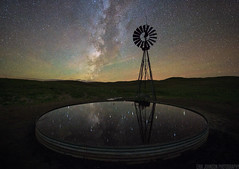 Galactic Mirror (Erik Johnson Photography) Tags: nebraska midwest sandhills galaxy long exposure milky way milkyway astro astrophotography mirror water reflection prairie pasture night mood sky stars panhandle feature national geographic