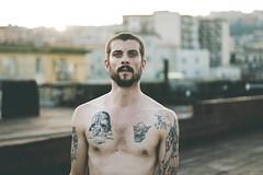 (lu) Tags: opg napoli naples rooftop boy skin tattoos street portrait naturallight