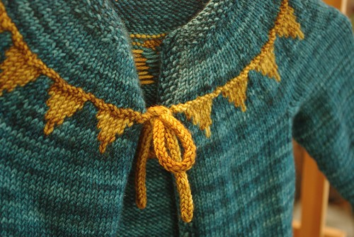 Baby Bunting Cardigan at Dirty Water Dyeworks