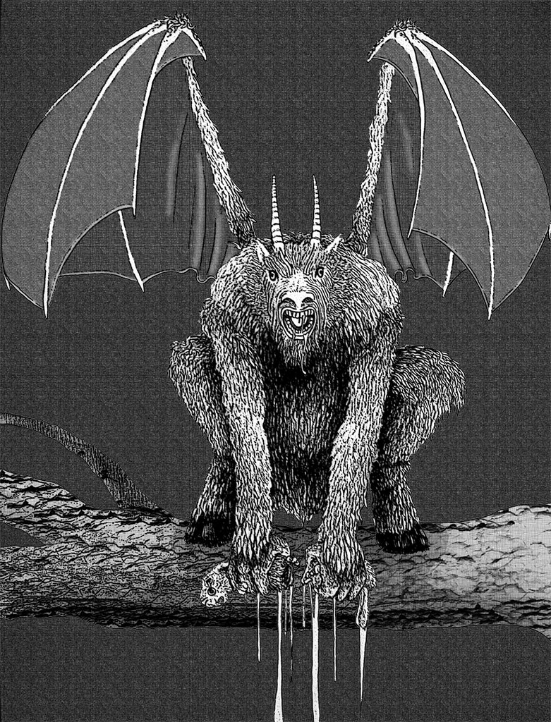 jersey devil black and white