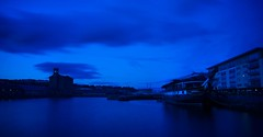 Dundee City Quay - Tranquil Blue View (Magdalen Green Photography) Tags: longexposure blue scotland dundee scottish clocktower unicorn tayside coolblue cityquay dundeecityquay iaingordon magdalengreenphotography tranquilblueview unicornpropertygroup