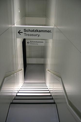 """Treppe zur """"Schatzkammer"""""""
