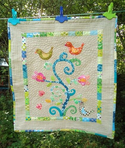Finished brit quilt - The Bird Feeder