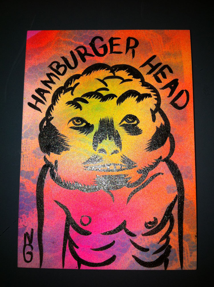 2011/04/18 Hamburger Head Sketch Card