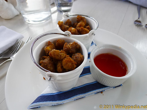 'Best Ever' pop-corn shrimps with sweet chilli sauce at the Summerhouse