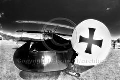 001936 D 300 HDR (Massimo Marchina) Tags: italy italia hdr biancoenero treviso veneto aerei aereoporto fokkerdr1 affisheyenikkor105mm128geddx 15°baraccaday nervesadellabattagliatv