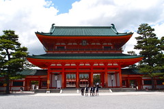 Entrance gate (kmmanaka) Tags: japan kyoto torii heianjingu votivepicture shurine paperfortunes