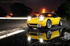 MX-5 Turbo (AndWhyNot) Tags: light lightpainting hardtop car yellow night dark painting long exposure paint traffic painted trails mazda miata mx5 eunos lightpainted 6040