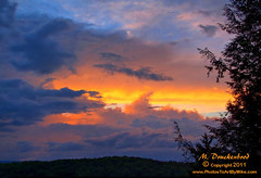 Blackwater Falls sunset, view from lodge (PhotosToArtByMike) Tags: sunset mountain evening twilight scenic wv westvirginia blackwaterfalls canaanvalley beautifulsunset blackwaterfallsstatepark landscapephotograph