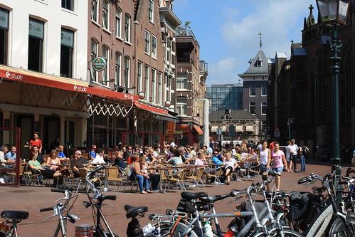 Cafes near the Grote Markt, Haarlem, Netherlands