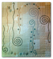 Shapes Of A Dream (Heather Lair Designs) Tags: spirals circles applique bedquilt