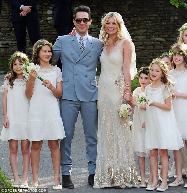 Mrs Rock Chick now! Beaming Kate Moss gets hitched to Jamie Hince with daughter Lila among the 15 bridesmaids  1