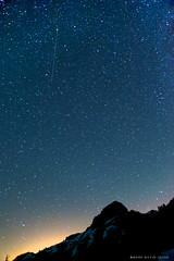 Perseids (mj.foto) Tags: longexposure nightphotography nikon 24mm 2010 northcascades lightpollution milkyway lakeann shootingstar meteorshower perseid perseids d700 markjosue