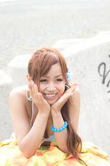 01713 (cosfit) Tags: ocean sea portrait people woman cute sexy beach girl beautiful beauty fashion japan lady asian japanese model asia pretty bikini swimsuit bathingsuit swimwear 20110703nisgp