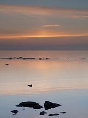 Rocky Shore Twilight (KRFoto) Tags: lake landscape michigan thumb lakehuron porthope huroncounty