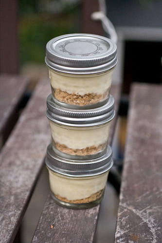 Mini Key Lime Yogurt Pies in Jars