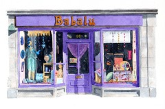 Babalu, Forres, Moray, (Rob Thorpe art) Tags: original portrait art shop watercolor painting scotland highlands artwork artist gallery scottish boutique online watercolour elgin moray scots nairn babalu forres findhorn morayshire