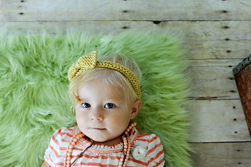 LilyPad and Meatball Knit Headband
