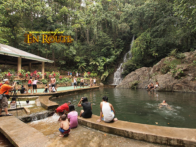 Portabaga Falls has been turned into a picnic resort