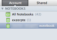 Evernote, using different notebooks
