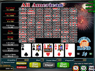 Play All American Video Poker | $/£/€400 Welcome Bonus | Casino.com