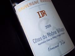 Dauvergne Ranvier Cotes du Rhone Villages 2009