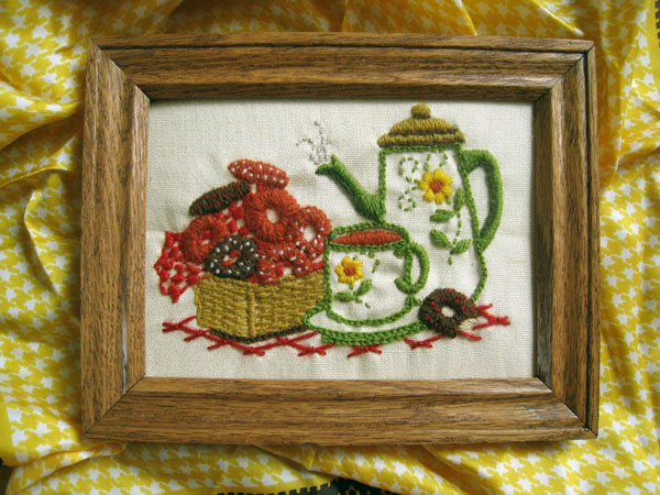 tea and donuts embroidery